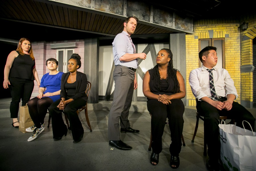 The cast of Second City's A Red Line Runs Through It includes veteran comedians Scott Morehead and Lisa Beasley.