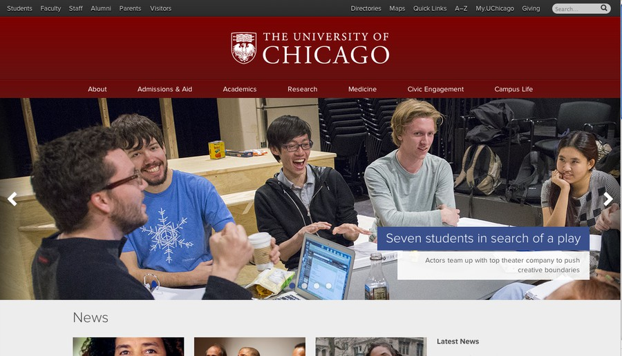 The University Web site was awarded the 2013 Webby Award and the People's Voice Award for best Web site in the School/University category.