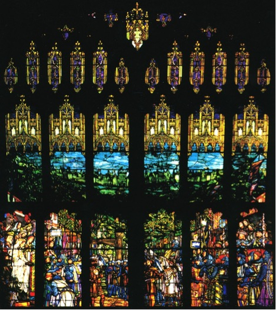 Prior to its conversion into a dining hall, Bartlett featured a colorful display of Ivanhoe stained glass windows, which was placed into storage in 2001.