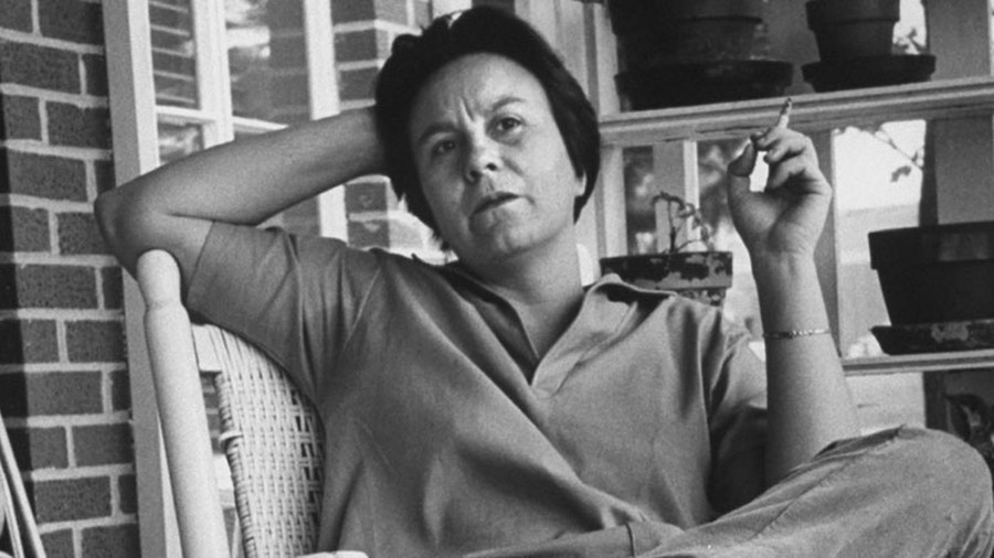 Harper Lee while visiting Monroeville, Alabama, her hometown and the setting which inspired Mockingbird's Maycomb.