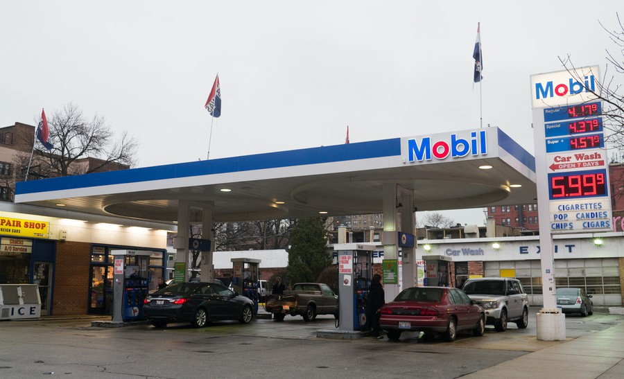 Residents of 53rd Street are suing the city because of zoning changes that will allow a high-rise to be built at the site of the Mobil station.