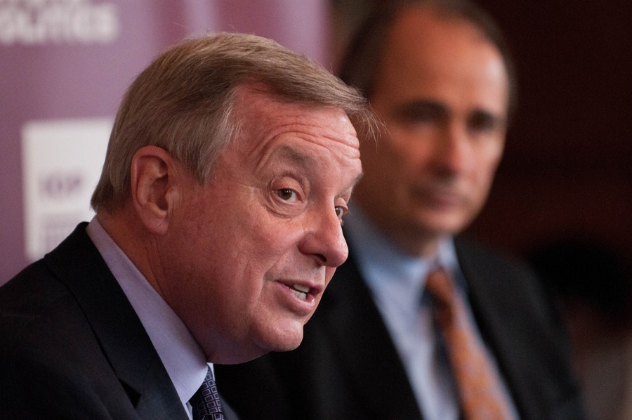 Senator Durbin discusses his campaign. Durbin held an IOP sponsored discussion on Tuesday.