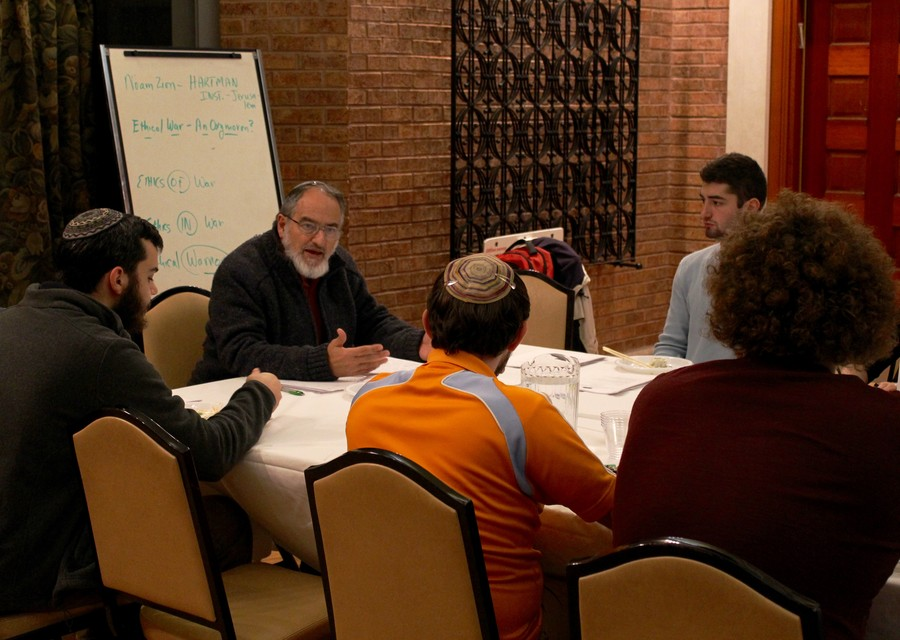 Noam Zion, a scholar at the Jerusalem-based Shalom Hartman Institute, spoke on ethics and war at Hillel Wednesday.