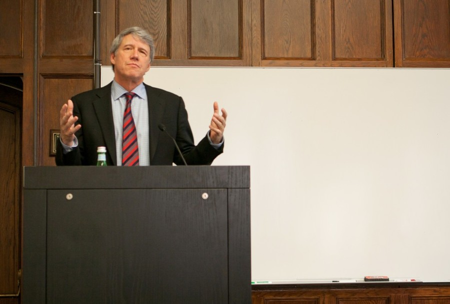 Law professor Geoffrey Stone gave a lecture in Swift Hall in 2012.