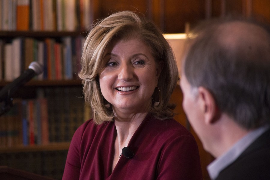 Arianna Huffington discusses her new book  The Sleep Revolution  with IOP Director David Axelrod at the Quadrangle Club.
