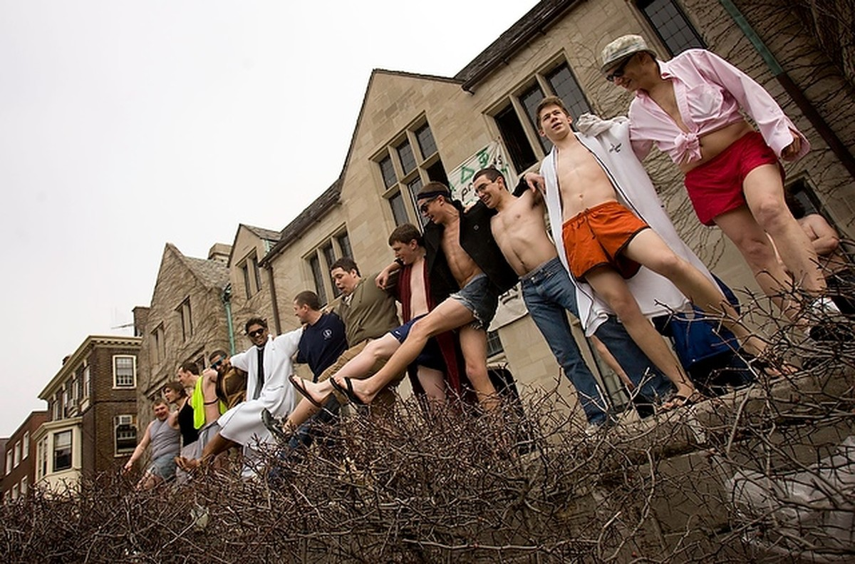 Alpha Delt Brothers held a counter-protest against Westboro in 2009.