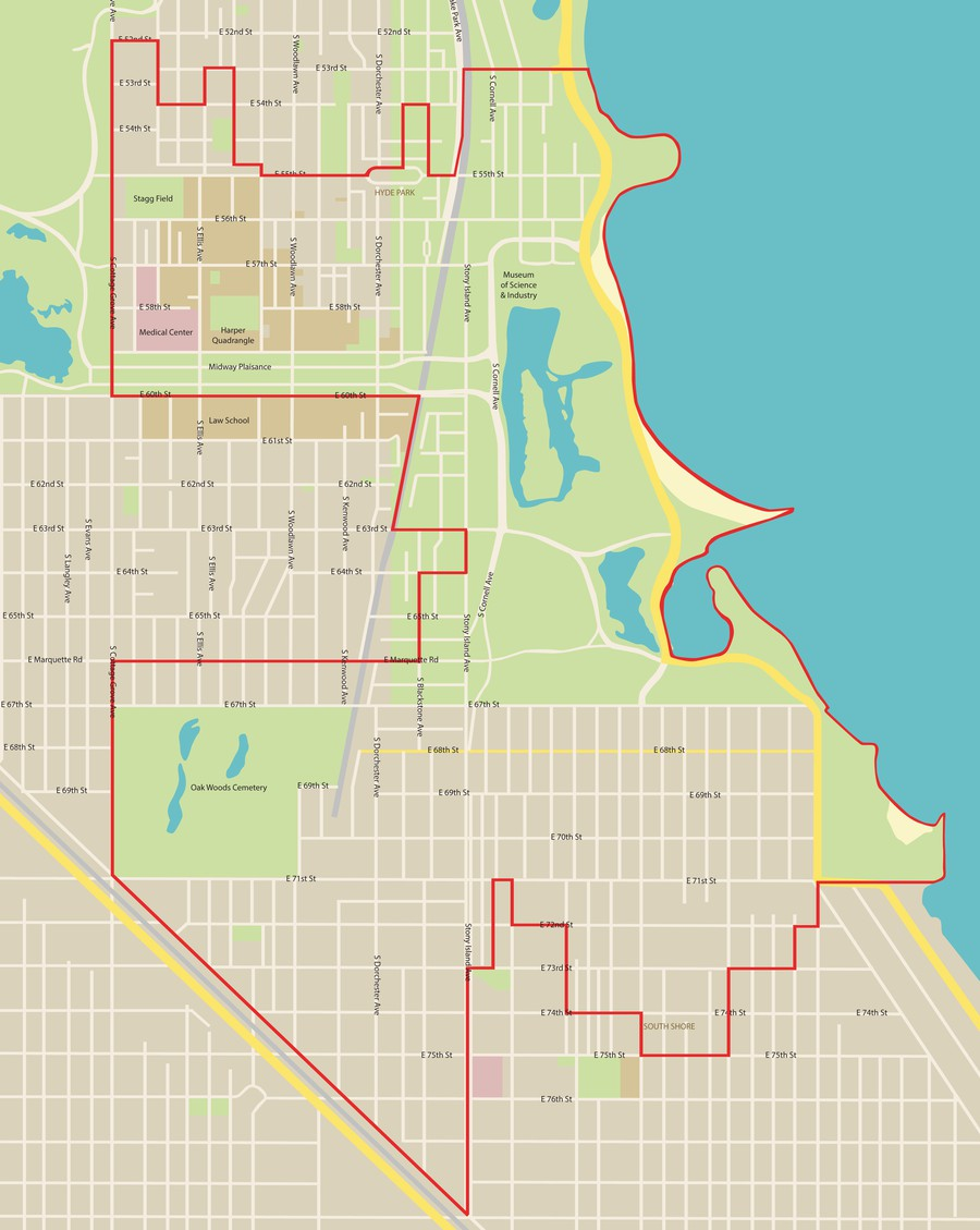 Map of the Fifth Ward.