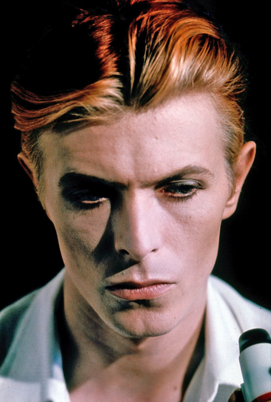 A 1976 promo shot of Bowie from The Man Who Fell to Earth.