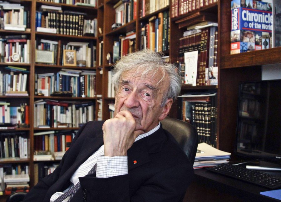 """Author and Nobel Laureate Elie Wiesel described his reliance on storytelling as """"the single theme that underlies all my work."""""""