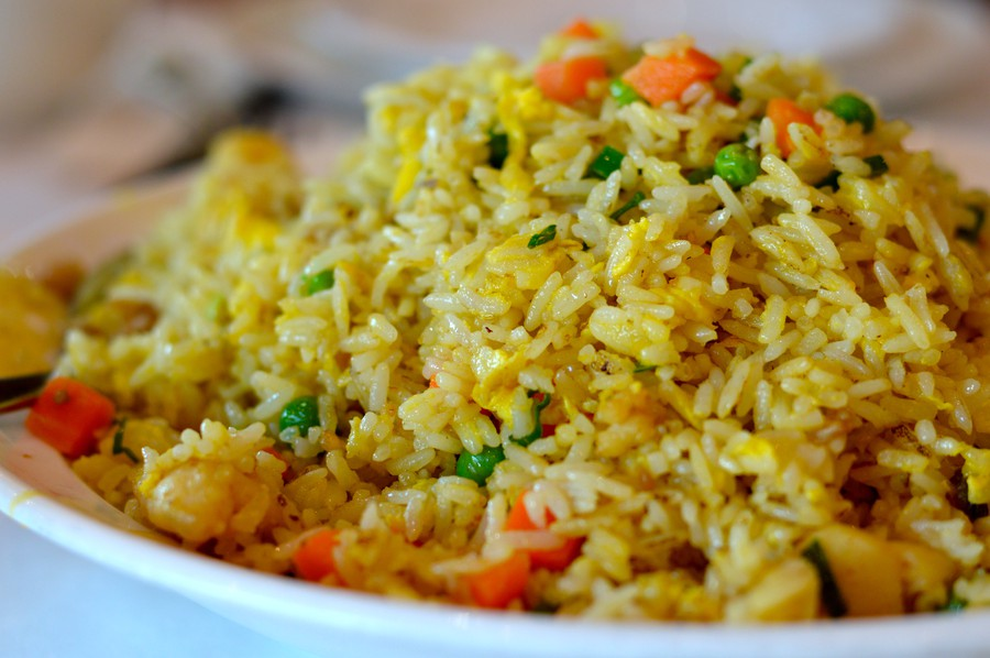 Cai's chicken and fish fried rice packs a salty surprise.