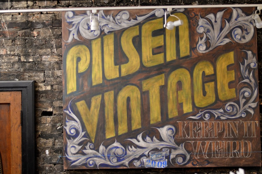Vintage rummage shops crop up next to restaurants serving authentic Mexican fare in Pilsen.