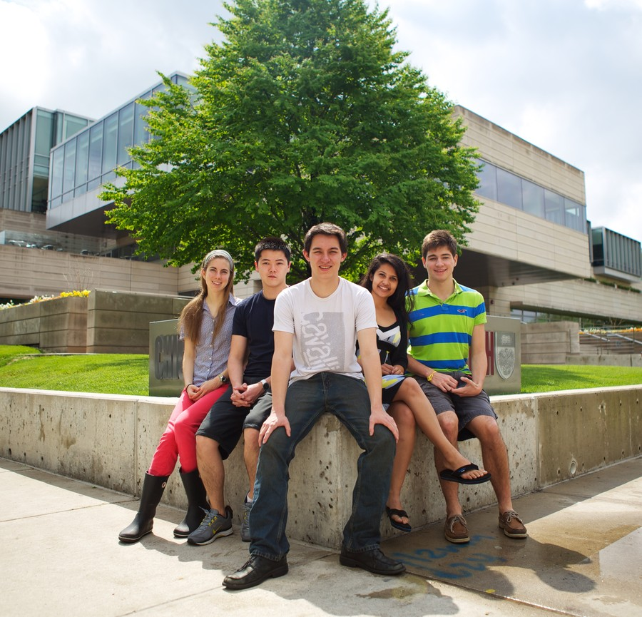 Project SAM (from left): second-year Hope Bretscher, second-year Victor Kung, second-year Daniel Yu, third-year Dhrooti Vyas, and Freddy Boulton.