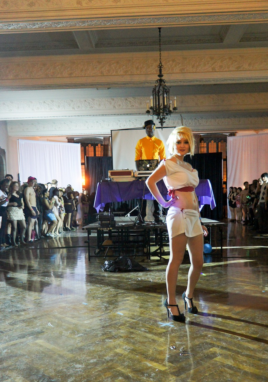 First-year Tessa Weil poses at the Lascivious Ball at Ida Noyes last Saturday evening.