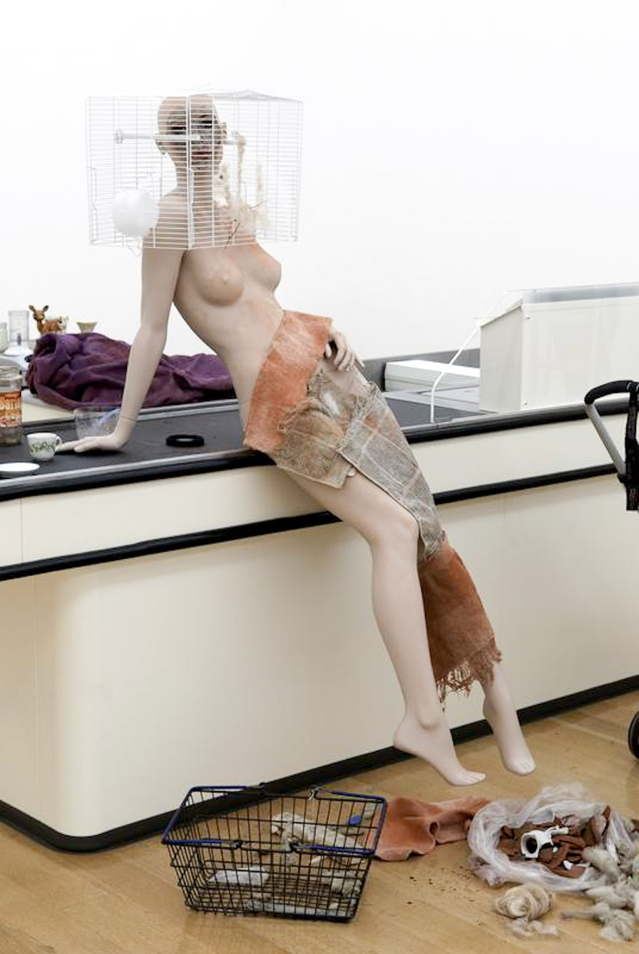 Wilkes uses old mannequins, among other objects, in her work.