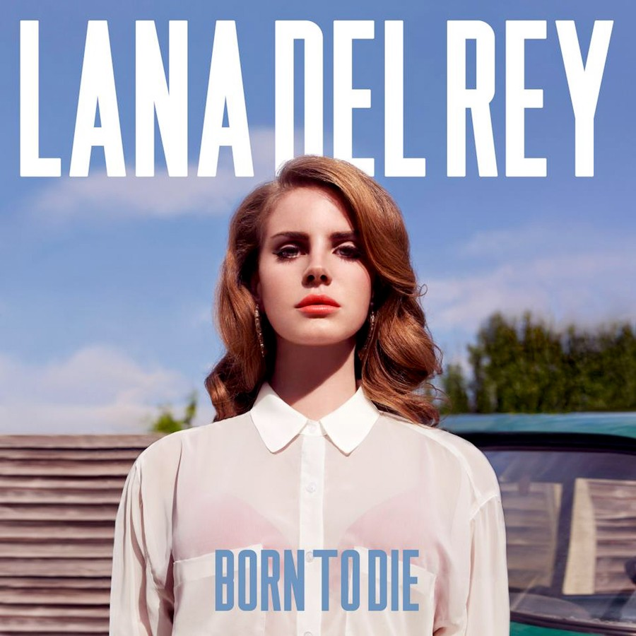 Lana Del Rey pouts on the cover of her new album 'Born to Die.'