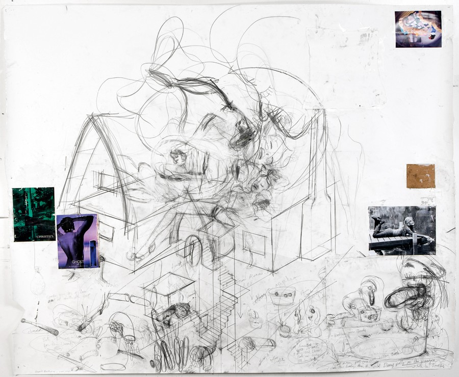 """McCarthy's drawing entitled """"Dwarf House"""" is now on display at the Renaissance Society."""