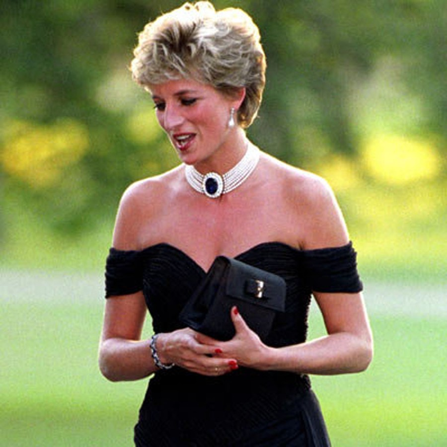 Princess Diana in a signature 1994 number.