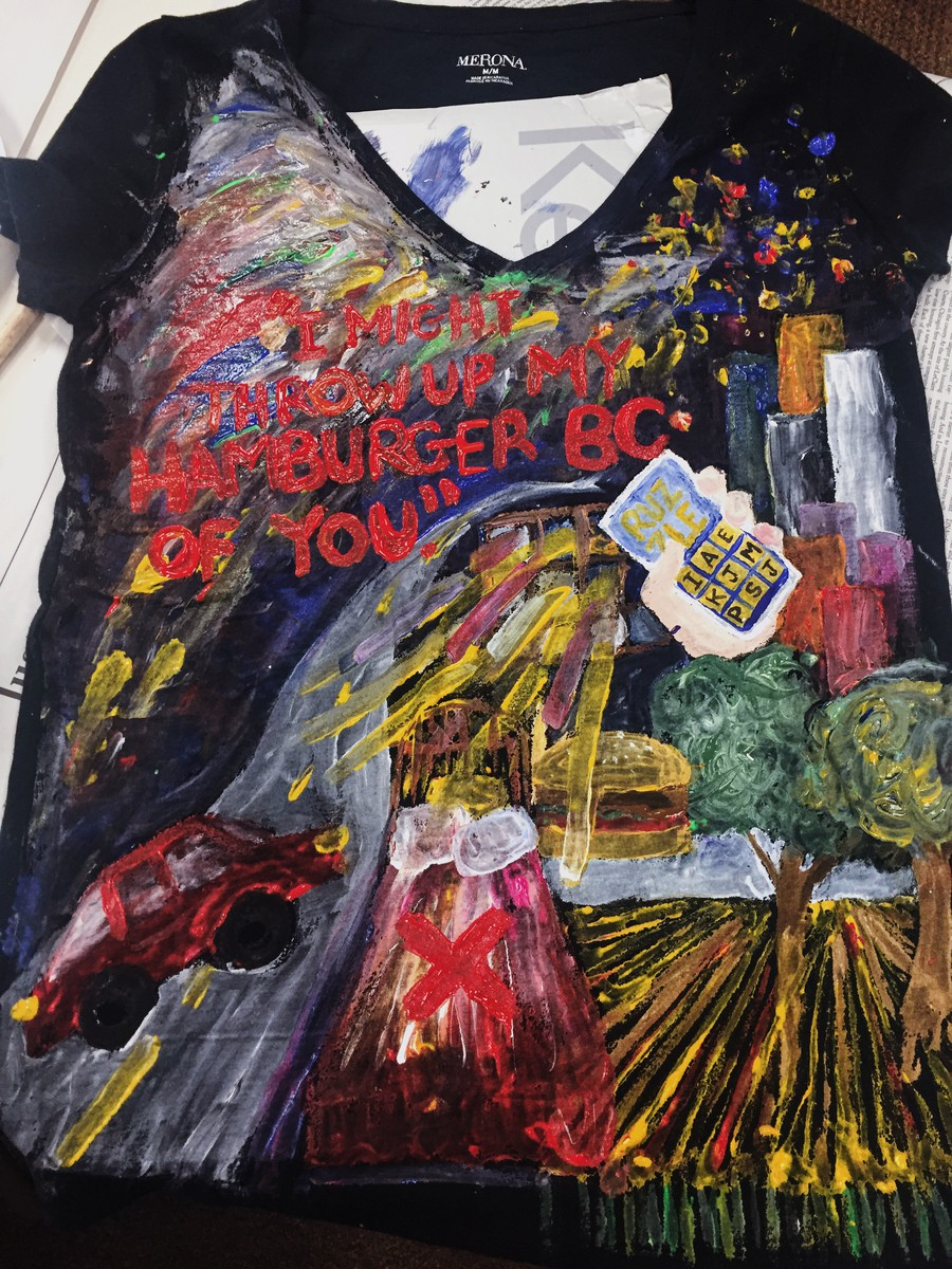 Last Tuesday was the first T-shirt-making session for this year's Clothesline Project, set to debut in the spring.