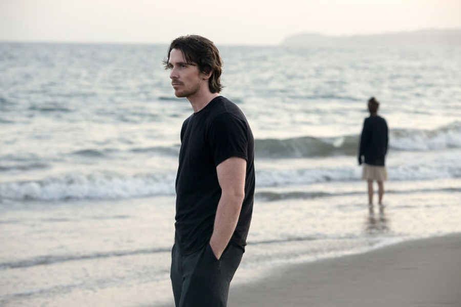 Rick (Christian Bale) is at the foreground of Malick's latest landscape.
