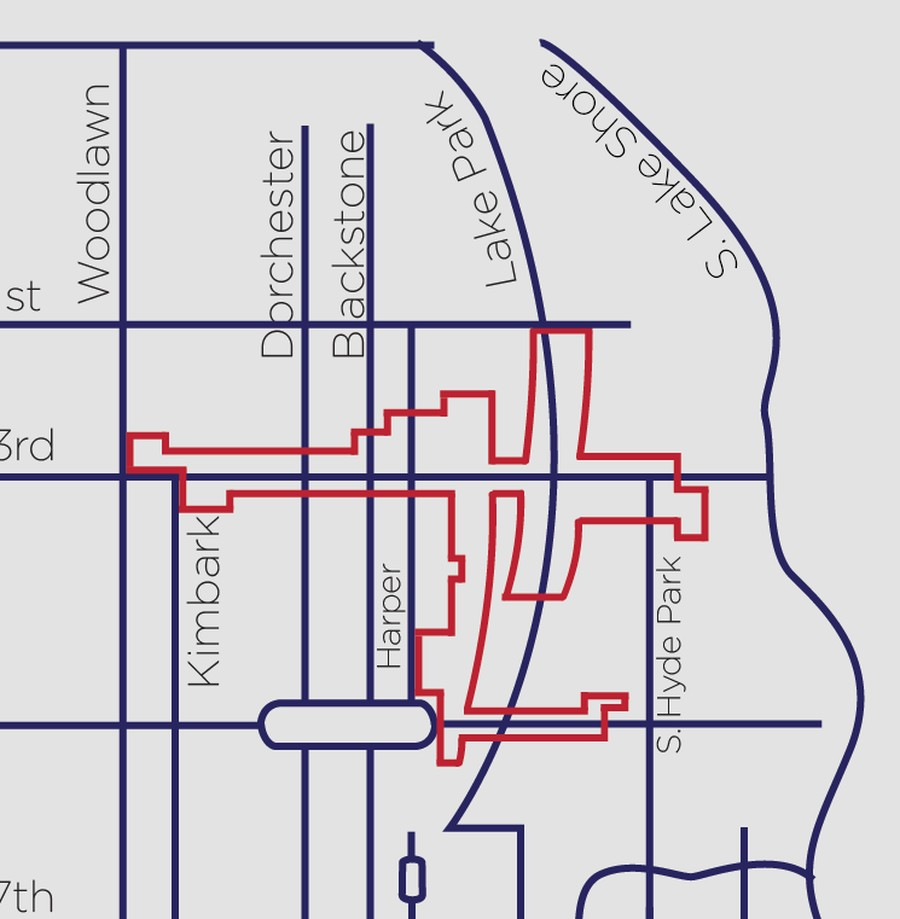 Using funds provided by taxes levied predominantly on businesses, the designation of the red-outlined area as an SSA will lead to additional services from the City of Chicago.