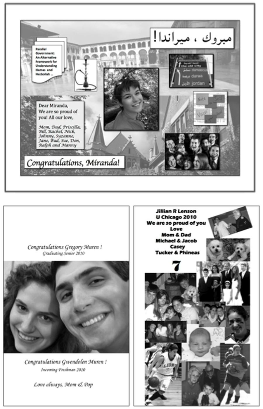 Graduation advertisement examples