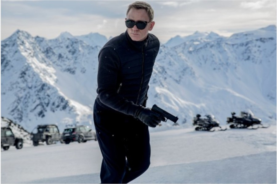Daniel Craig as James Bond in the latest installment of the Bond franchise