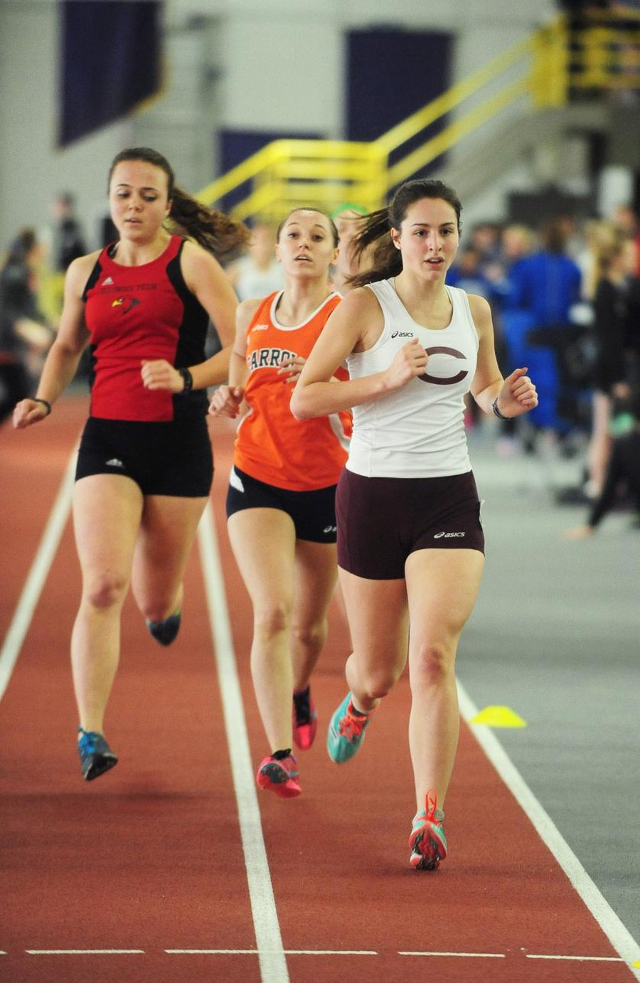 Third-year Madison Hetzner competes in the Windy City Invitational during the 2015 season.