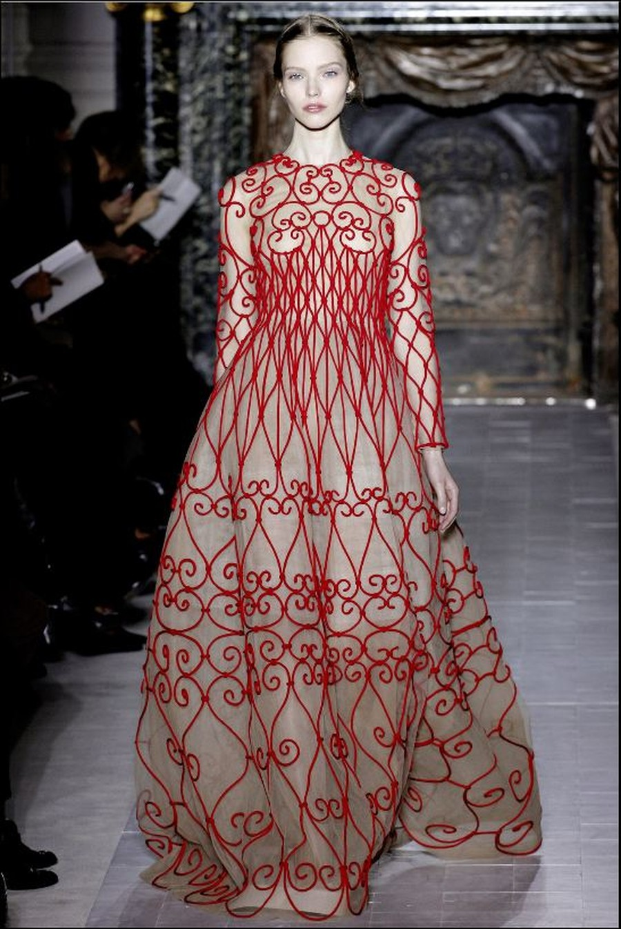 Look fetching in fencing in this Valentino that costs more than any fence.