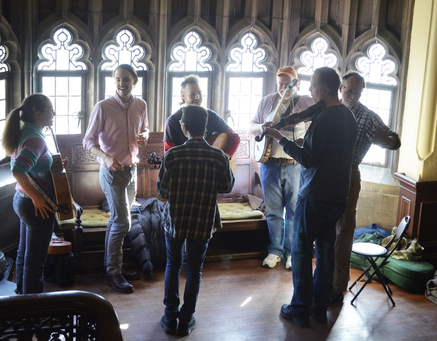Musicians perform at the 56th Annual UChicago Folk Festival.