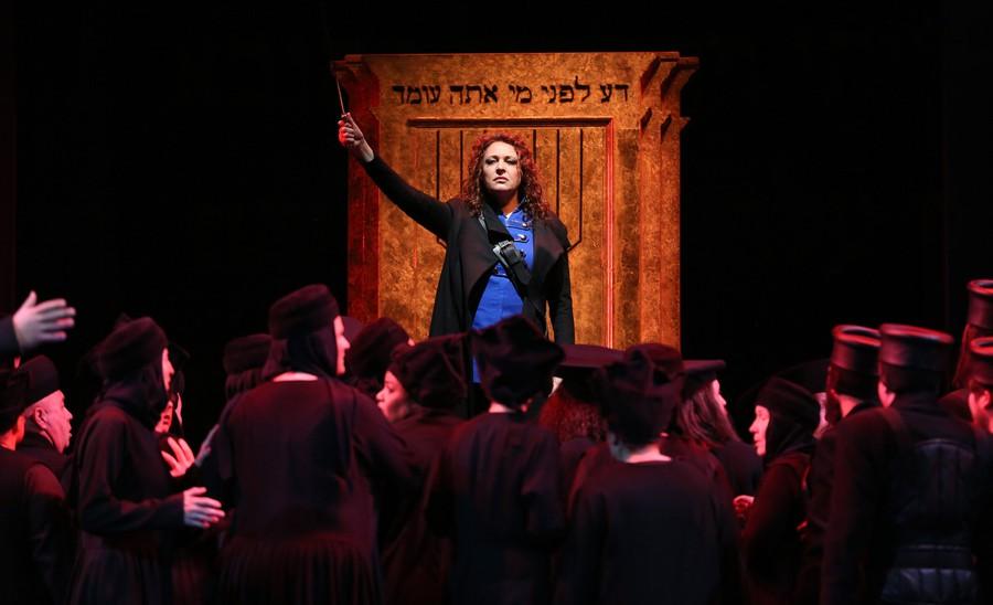Tatiana Serjan's Abigaille commands the Babylonians—and the Lyric Opera stage—in Verdi's Nabucco.