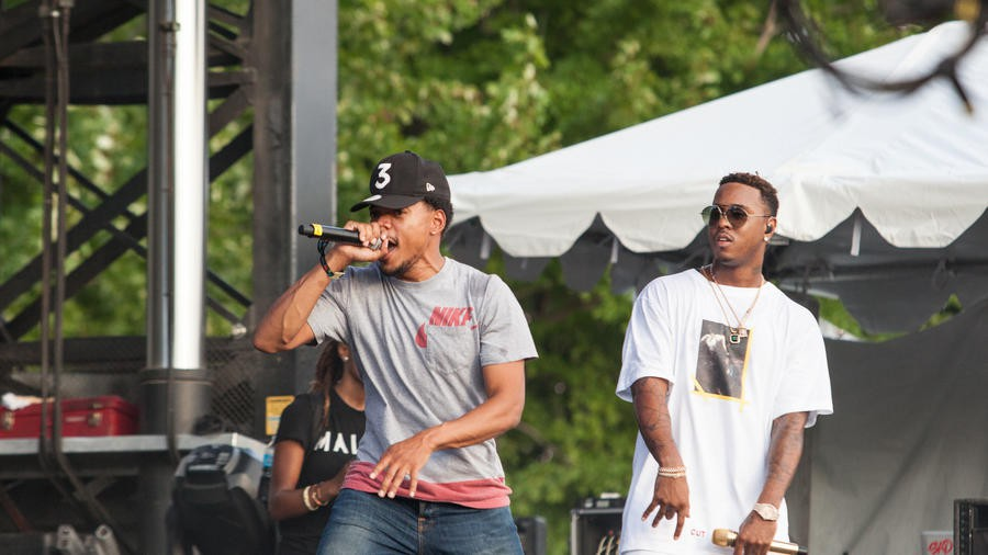 Chance the Rapper and Jeremih perform for a hometown crowd on July 17.