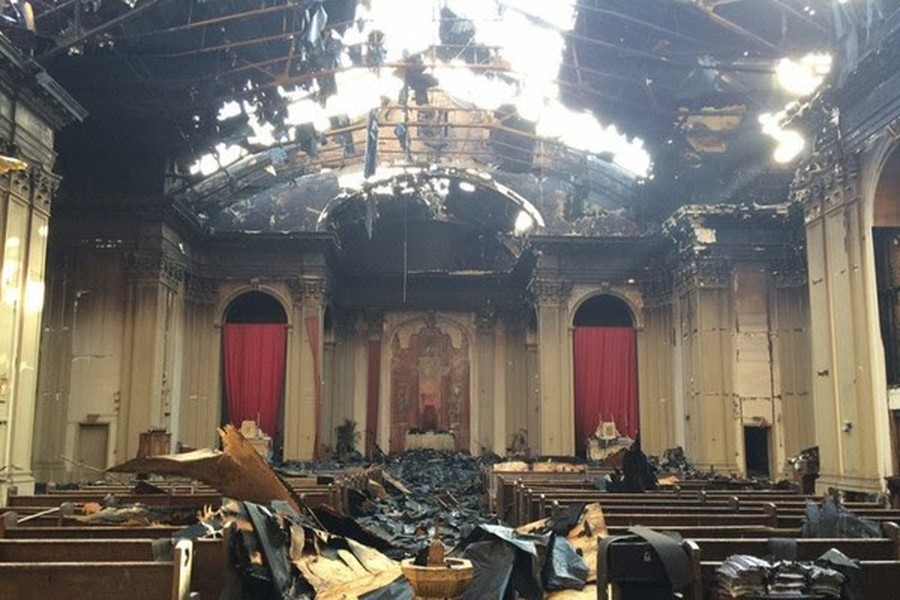 Shrine of Christ the King church will be demolished following damage from a fire in October.