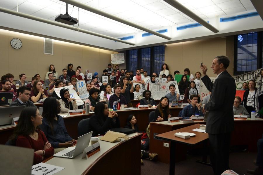 Dean Boyer talks at an April 14 CC meeting.