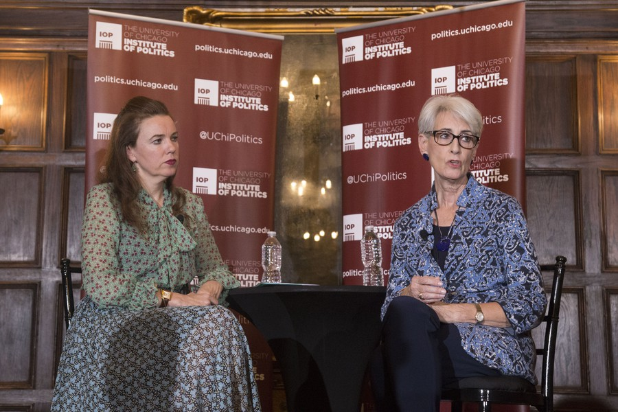 Ambassador Wendy Sherman was at the IOP on Thursday, October 6.