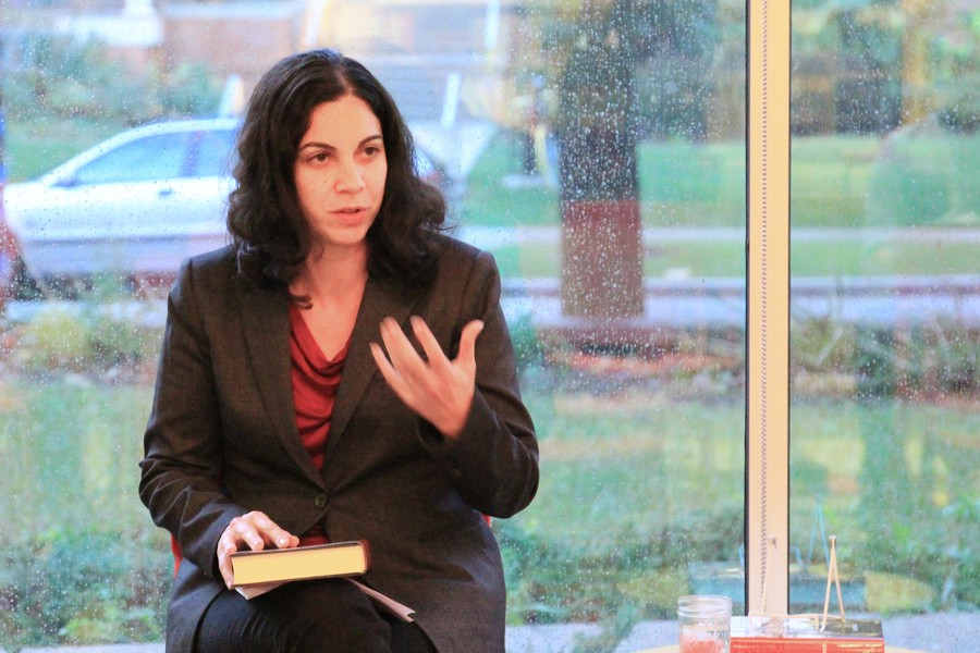 Laura Weinrib discusses her book The Taming of Free Speech: America's Civil Liberties Compromise on Oct. 6 at the Seminary Co-op.