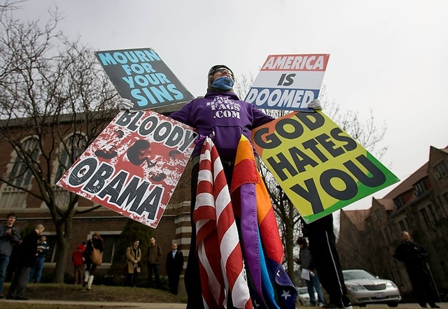 Westboro Baptist Church picketed on campus in 2009.