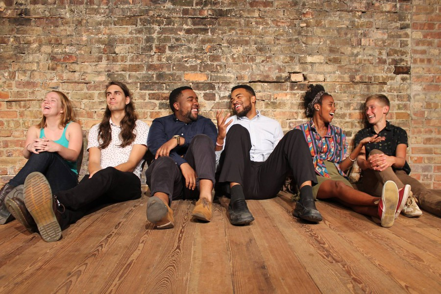 From left to right: Molly Ruthenberg, Sam Taylor, Aadam Keeley, Terrence Carey, Wanjiku Kairu, Shannon Noll comprise the cast of Trigger, the Revival's first sketch comedy revue.