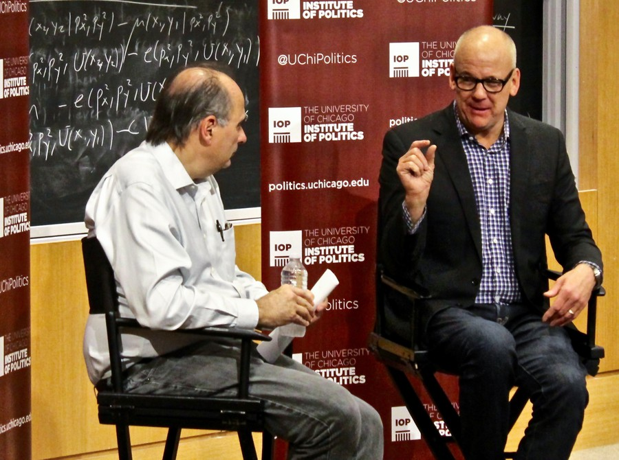 David Axelrod in conversation with John Heilemann, co-managing editor of Bloomberg Politics.