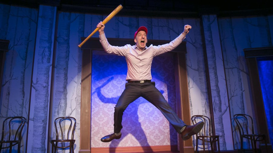 "Comedian Daniel Strauss in a scene from Second City's 104th Revue, ""Fool Me Twice, Déjà Vu""."