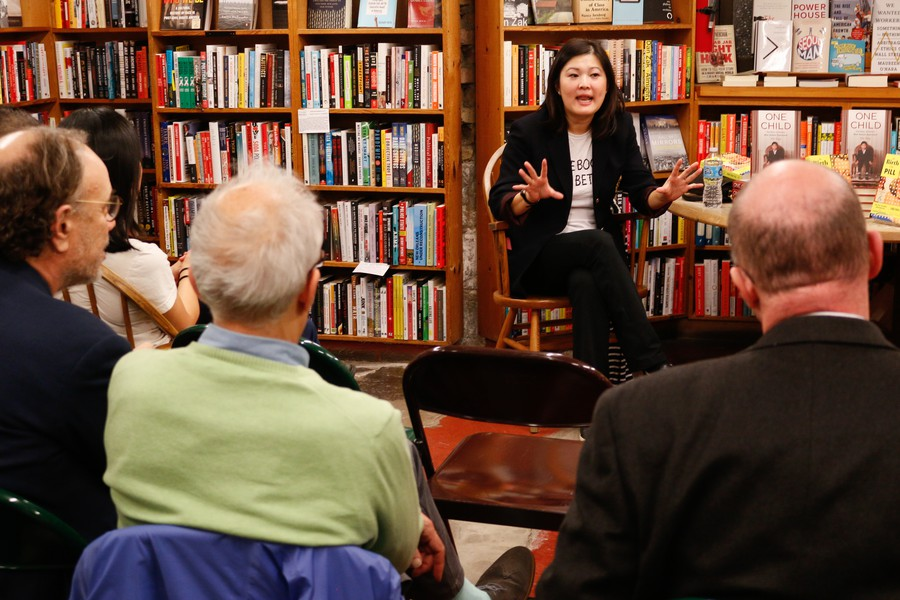 Mei Fong spoke at the 57th Street Bookstore about her latest book, One Child: The Story of China's Most Radical Experiment.