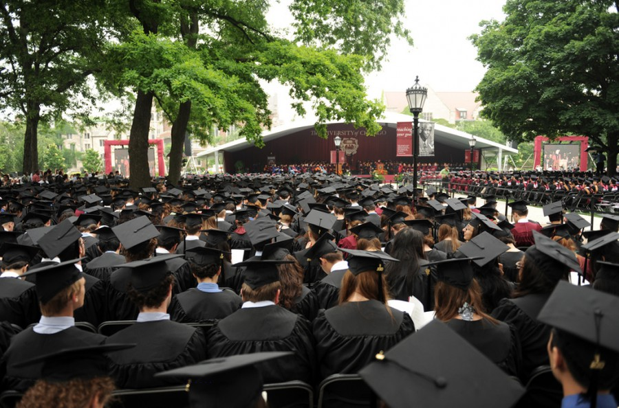 In past years, Zimmer has handed out diplomas at a ceremony on the quad.
