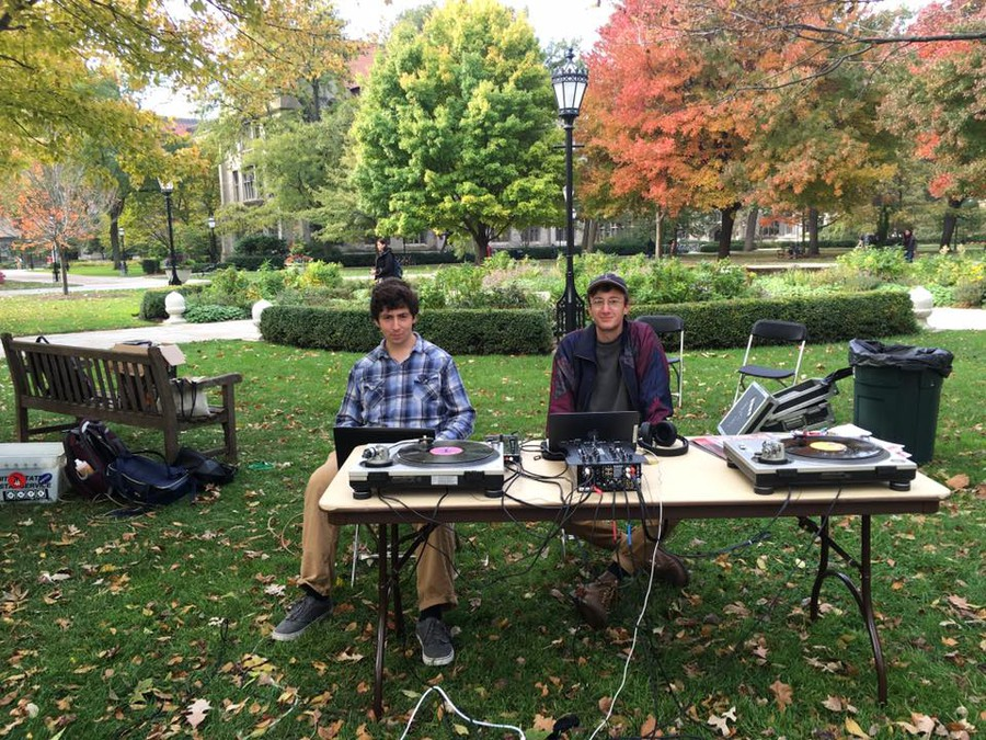 WHPK DJs spun tracks on the quad on Friday in protest of programming changes by the University.