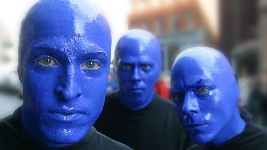 The Blue Man Group uses avocado-based cerulean paint to achieve their signature look.