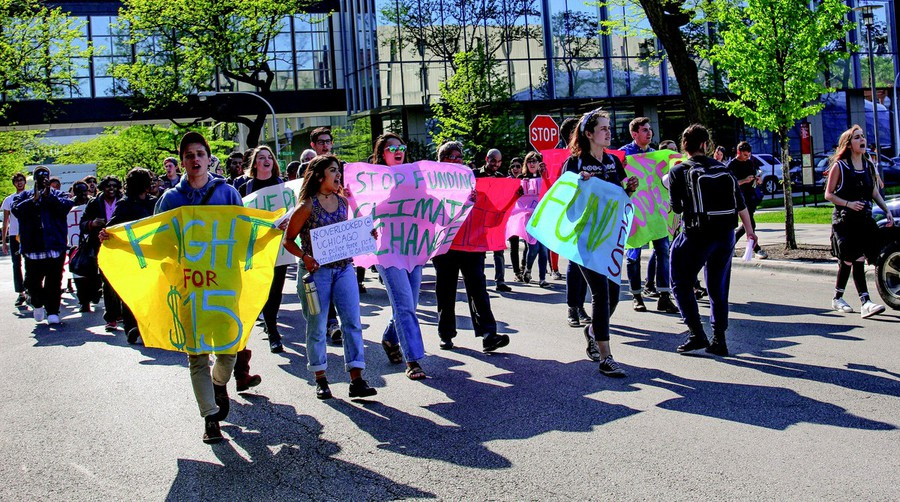 """Protesters turned out last academic year at the """"Rally to Democratize the University."""""""