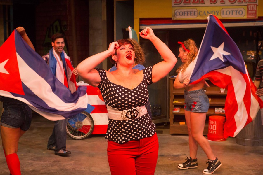 """Missy Aguilar as Daniela and the cast of In The Heights perform """"Carnaval Del Barrio""""."""