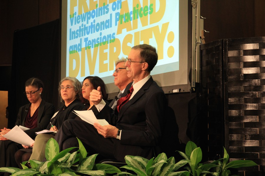 Dean Boyer speaks during the panel discussion.