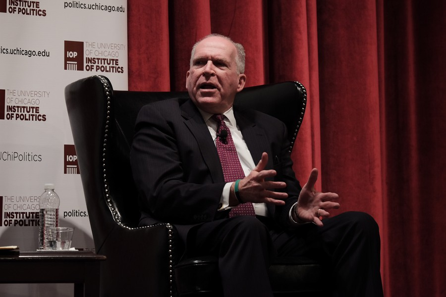 Outgoing CIA director John Brennan discusses the state of US intelligence at International House on January 5.