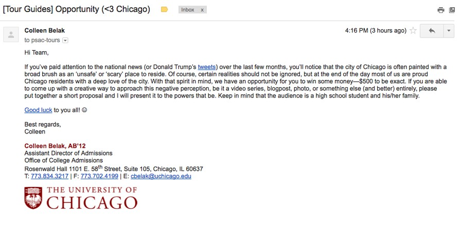How to write email for college admission