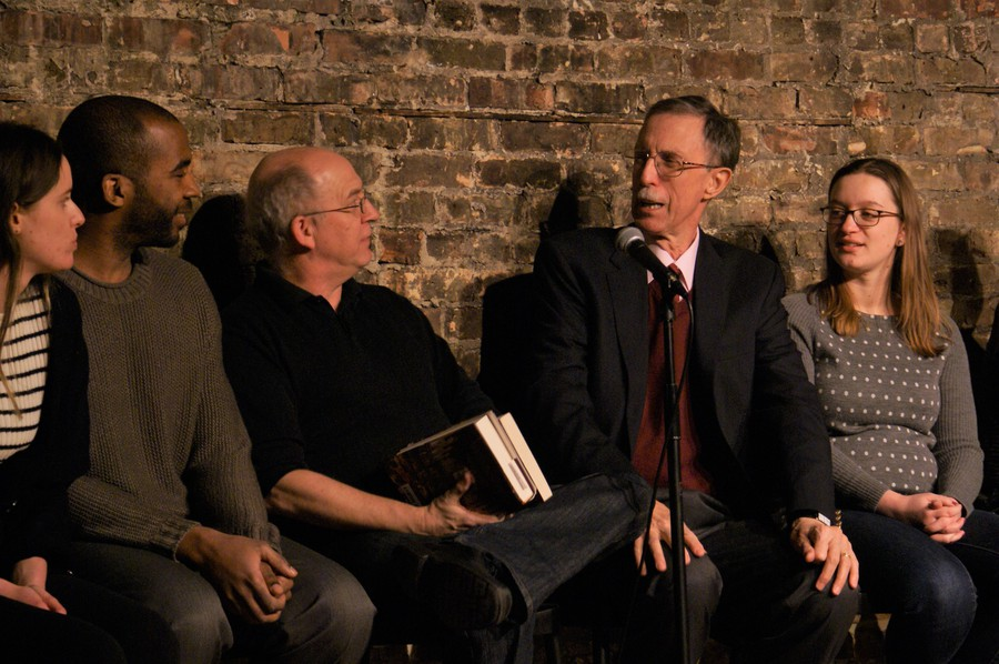 Dean Boyer is featured in improv comedy alongside students and faculty in The Revival's The Hutchins Plan.