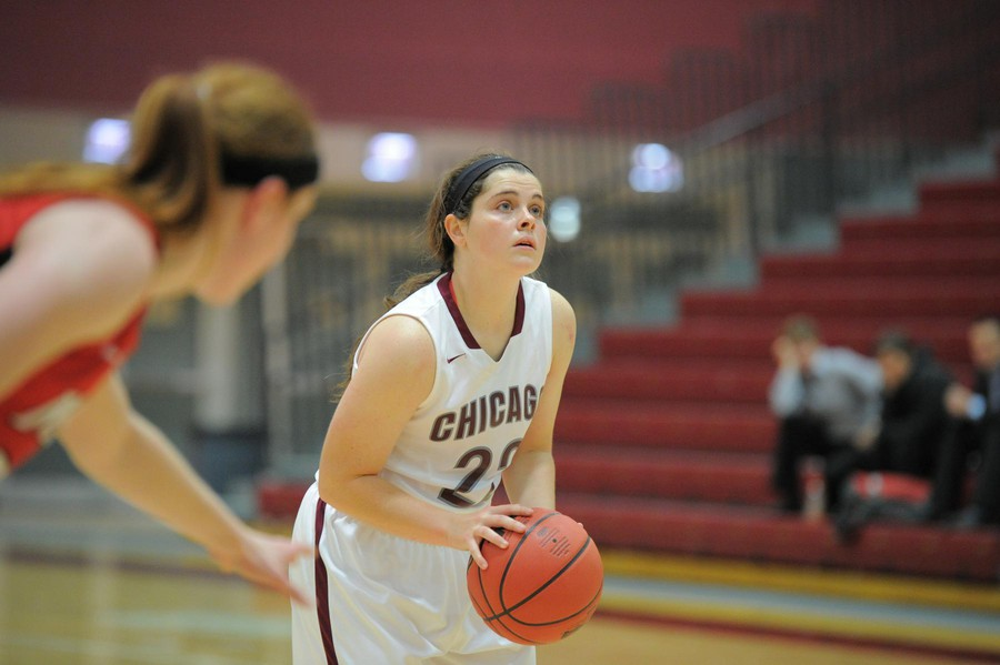 Third-year Elizabeth Nye focuses on a free-throw shot.